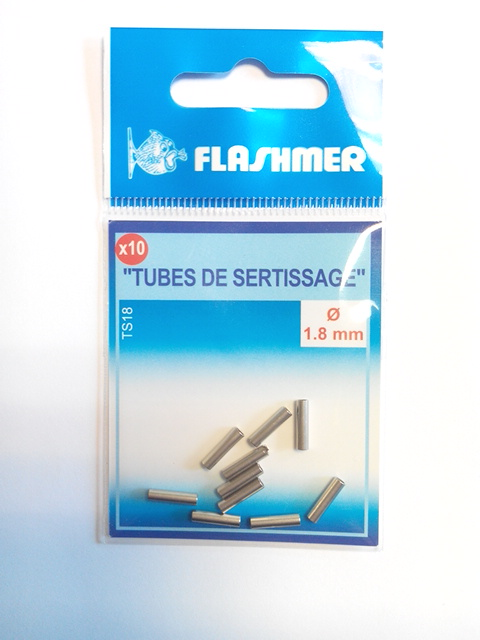 Tubes de sertissage 1.8 mm - sachet de 10 tubes - Flashmer